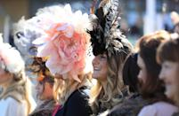 <p>Are the head pieces obstructing their view? Either way, worth it [Photo: PA] </p>