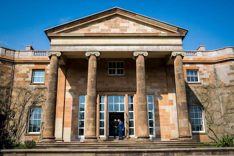 """<p>The official Northern Ireland residence of the Queen and the Secretary of State for Northern Ireland, <a href=""""https://www.hrp.org.uk/hillsborough-castle/"""" rel=""""nofollow noopener"""" target=""""_blank"""" data-ylk=""""slk:Hillsborough Castle"""" class=""""link rapid-noclick-resp"""">Hillsborough Castle</a> is set on 100 acres of gardens and trimmed lawns. Other members of the British royal family also stay at the castle when they visit the country.</p>"""