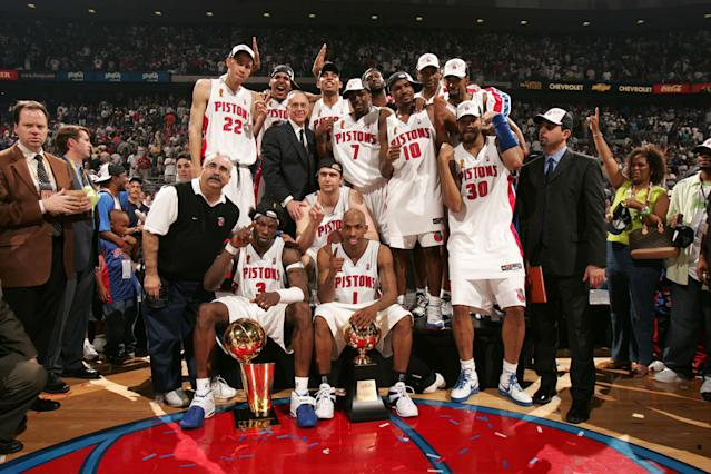 The 2004 Detroit Pistons were a special group. (Getty Images)