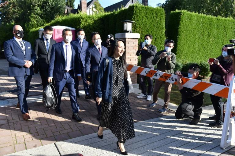 China has insisted that the cases of Meng Wanzhou and Canadians Kovrig and Spavor are unrelated, but critics have accused Beijing of 'hostage diplomacy' (AFP/Don MacKinnon)