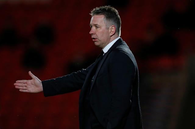 "Soccer Football - League One - Doncaster Rovers vs Bradford City - Keepmoat Stadium, Doncaster, Britain - March 19, 2018 Doncaster Rovers Manager Darren Ferguson Action Images/Craig Brough EDITORIAL USE ONLY. No use with unauthorized audio, video, data, fixture lists, club/league logos or ""live"" services. Online in-match use limited to 75 images, no video emulation. No use in betting, games or single club/league/player publications. Please contact your account representative for further details."