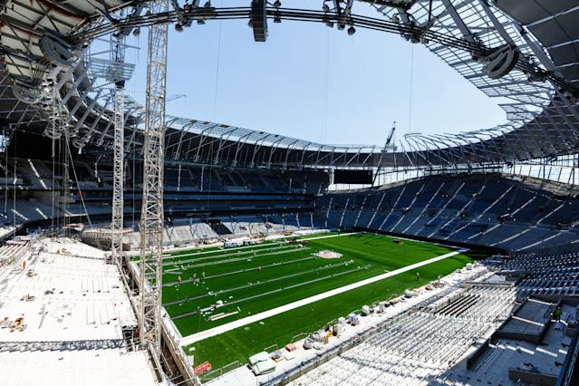 Tottenham are in a race against time to get their new stadium ready