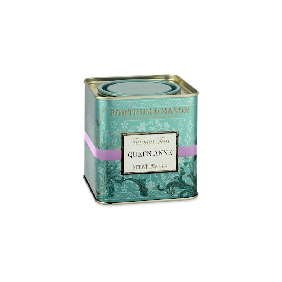"""Nothing beats a good tea-spilling session with your girls, and this artisan blend—appropriately deemed Queen Anne—is the perfect pick. $19, Williams Sonoma. <a href=""""https://www.williams-sonoma.com/products/fortnum-and-mason-queen-anne-tea/"""">Get it now!</a>"""