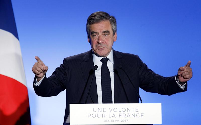 French Presidential Candidate Francois Fillon  - Credit: Getty