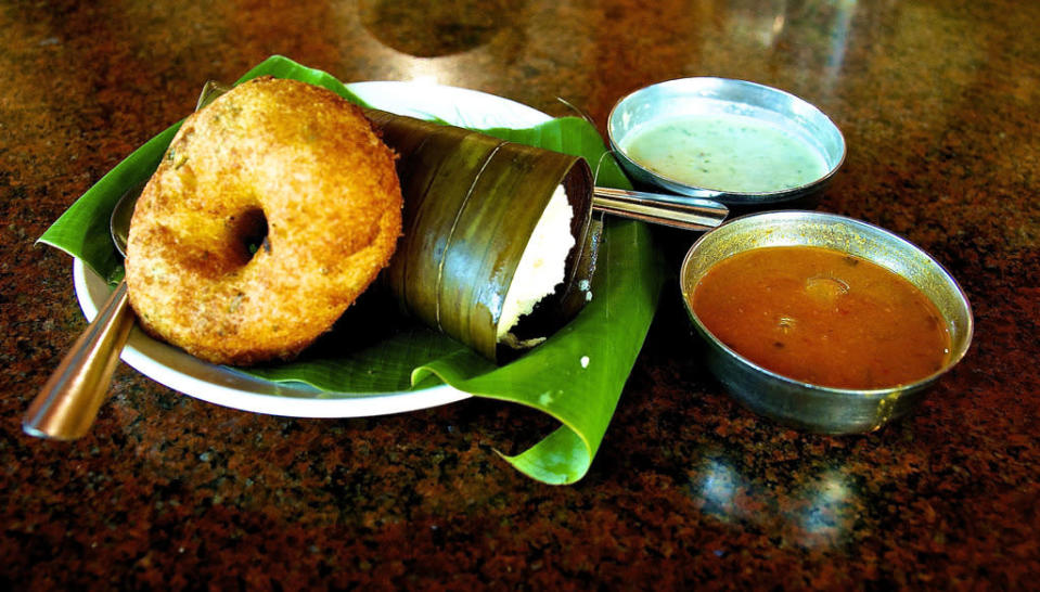 <p><b>Vada</b><br></p><p>Medu vada is another delicacy that is often served along with venpongal. It is crispy in the outside and soft and fluffy inside. Made with urad dal, this is a perfect accompaniment to pongal. Pongal and vada are served along with sambar and coconut chutney. This traditional breakfast followed by a cup of hot filter coffee is sure to satisfy your taste buds.</p>