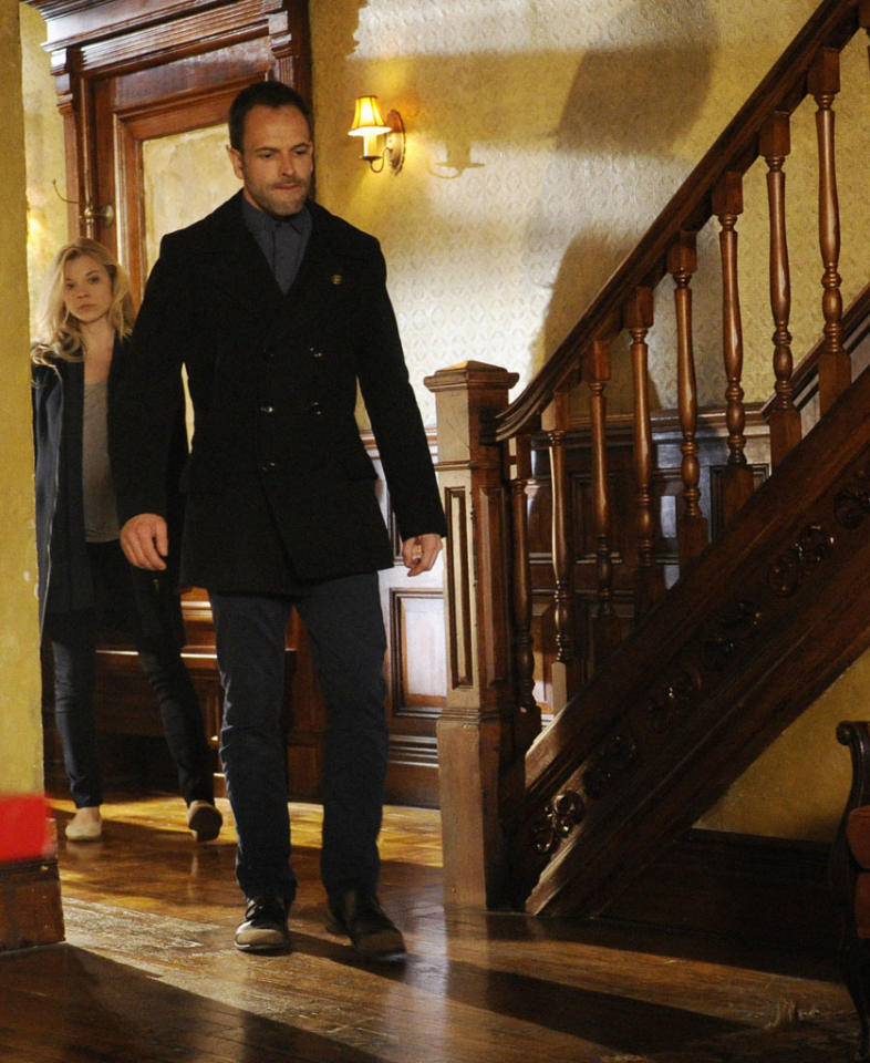 """The Woman"" - As Sherlock (Jonny Lee Miller) reels at the reappearance of his former lover, Irene Adler (Natalie Dormer), a series of flashbacks unravel the tumultuous events that led to his downfall into addiction, on the two hour, first season finale of ""Elementary."""