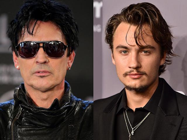 Tommy Lee and his son Brandon were involved in a physical altercation. (Photos: Getty Images)