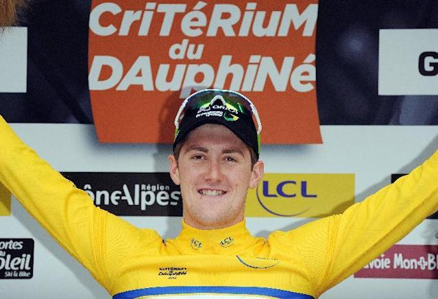 File photo of Luke Durbridge during the Dauphine Criterium cycling race in France (AFP Photo/Pascal Pavani)