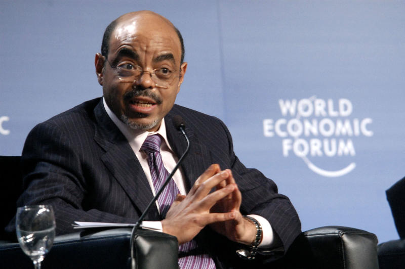 FILE - In this May 6, 2010 photo, Ethiopian Prime Minister Meles Zenawi speaks during the 20th World Economic Forum on Africa at Mlimanin City Conference Centre in Dar es Salaam, Tanzania. Meles died Monday, Aug. 20, 2012 following weeks of illness, Ethiopian State media reported. He was 57. (AP Photo/Khalfan Said, File)
