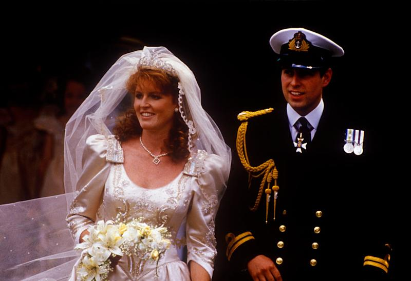The wedding of Prince Andrew, Duke of York, and Sarah Ferguson at Westminster Abbey, London, UK, 23rd July 1986. | John Shelley Collection/Avalon—Getty Images