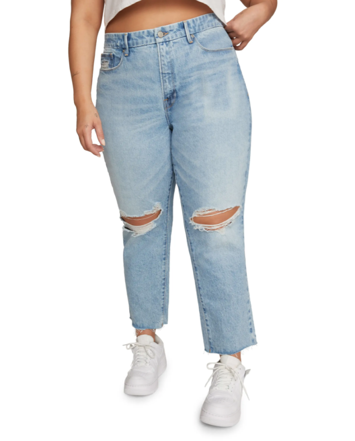 Good American 'Good Girlfriend' High Waist Ripped Jeans (Photo via Nordstrom)