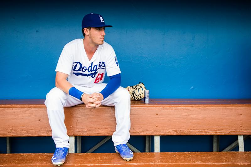 Cody Bellinger was called up by the Dodgers on Tuesday. (AP)