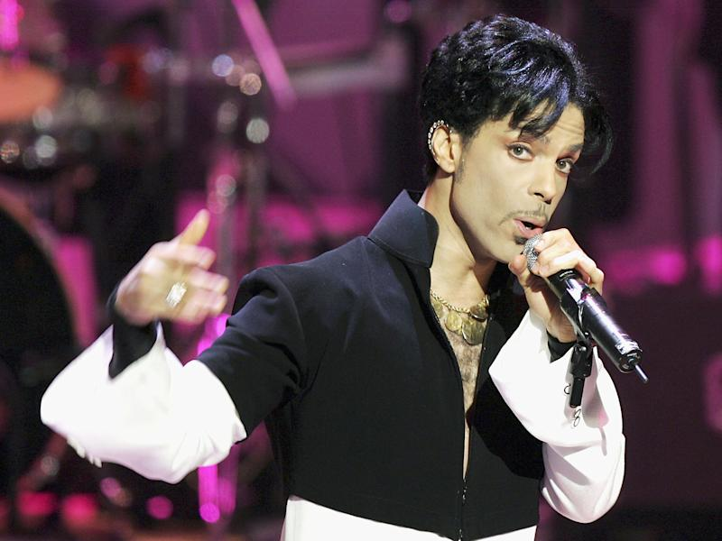 Musician Prince performs onstage at the 36th Annual NAACP Image Awards at the Dorothy Chandler Pavilion in 2005: Kevin Winter/Getty Images
