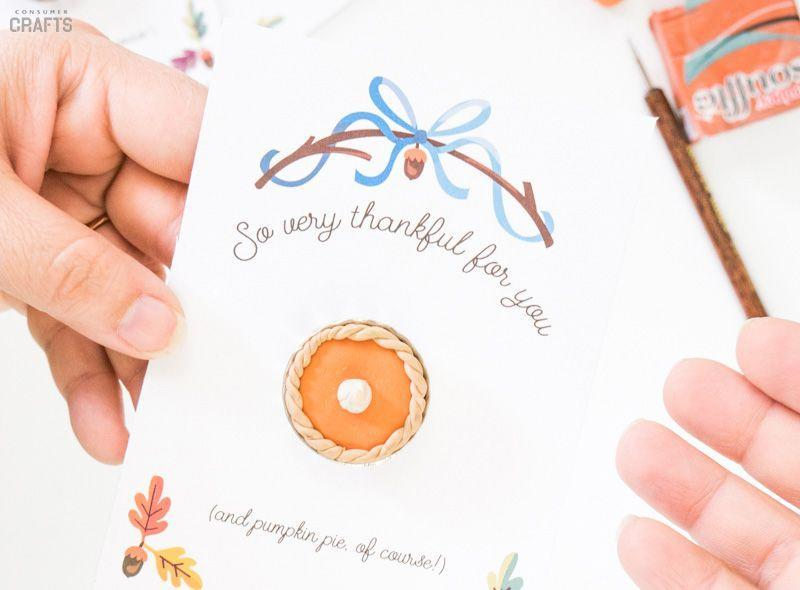 "<p>Simple to make with a few ""ingredients"" like modeling clay, this craft you can do with the kids can be given to Thanksgiving dinner guests.</p><p><strong>Get the tutorial at <a href=""http://blog.consumercrafts.com/seasonal/fall/pie-craft-magnet/"" rel=""nofollow noopener"" target=""_blank"" data-ylk=""slk:Crafts Unleashed"" class=""link rapid-noclick-resp"">Crafts Unleashed</a>.</strong></p><p><a class=""link rapid-noclick-resp"" href=""https://www.amazon.com/Sculpey-Polymer-Clay-Ounces-Sweet-Potato/dp/B0053B05Q0/ref=asc_df_B0053B05Q0/?tag=syn-yahoo-20&ascsubtag=%5Bartid%7C10050.g.1201%5Bsrc%7Cyahoo-us"" rel=""nofollow noopener"" target=""_blank"" data-ylk=""slk:SHOP MODELING CLAY"">SHOP MODELING CLAY</a> </p>"