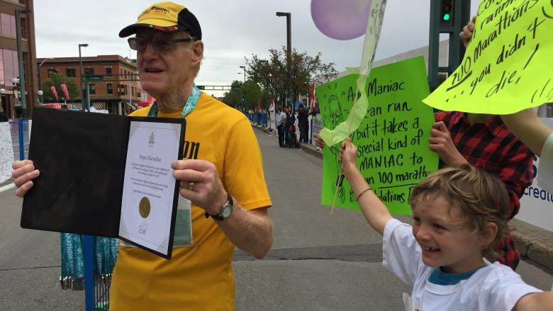 79-year-old Albertan completes 100th marathon race in 10 years