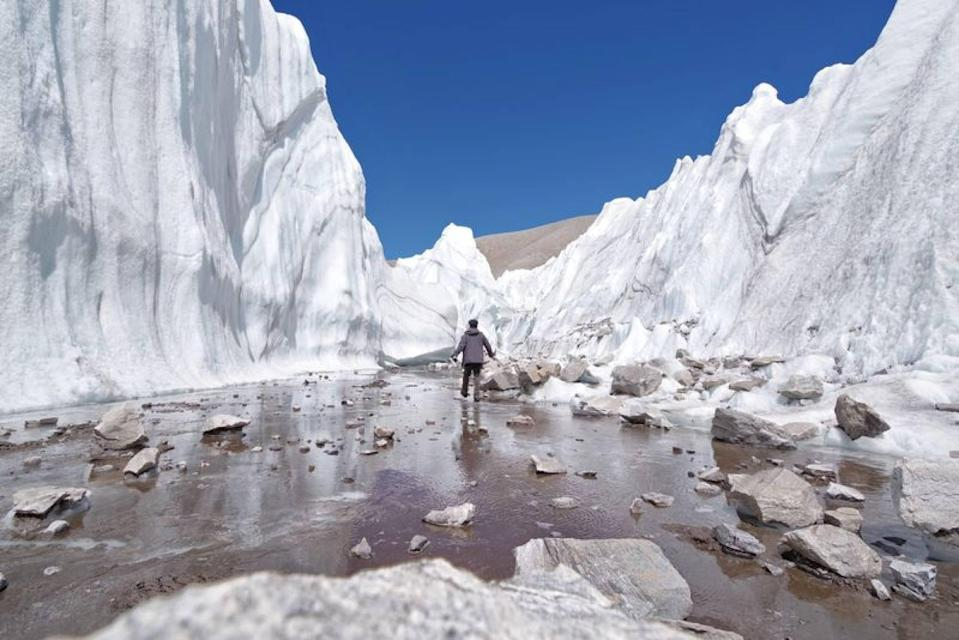 Wang amassed more than six million social media followers with his photos and videos of glaciers in China. Photo: Wang Xiangjun