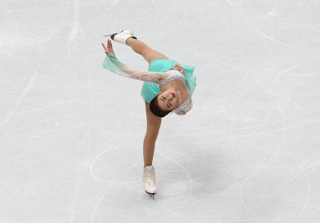 Figure Skating - World Figure Skating Championships - The Mediolanum Forum, Milan, Italy - March 21, 2018 South Korea's Dabin Choi during the Ladies Short Programme REUTERS/Alessandro Bianchi