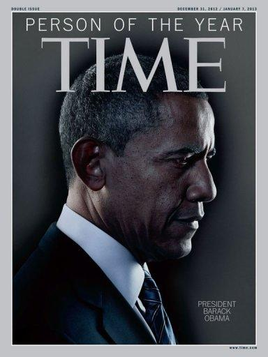 Capa da revista Time mostra a escolha do presidente americano, Barack Obama, como a personalidade do ano de 2012