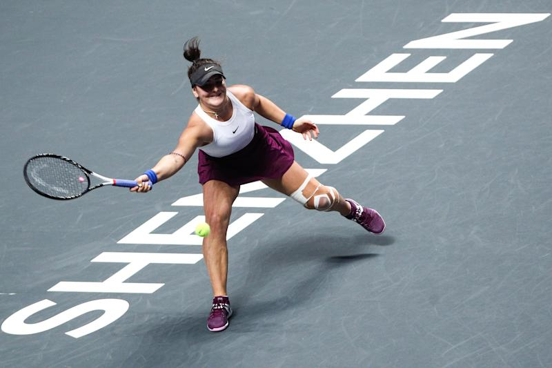 U.S. Open champion Bianca Andreescu withdrew from the Australian Open on Saturday while recovering from a knee injury.