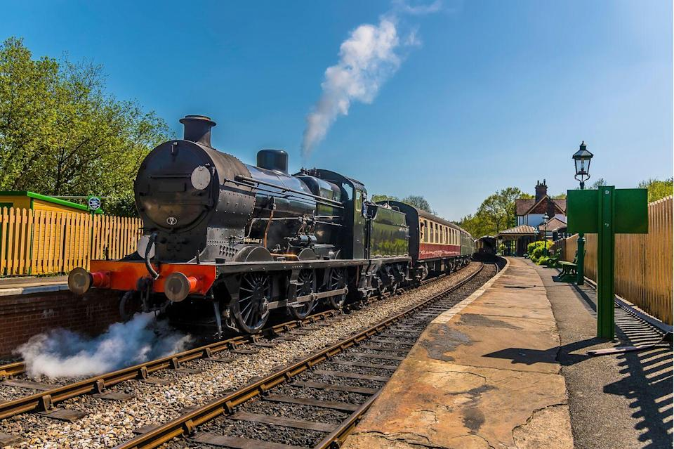"<p>One of the most delightful train journeys in the UK, the Bluebell Railway takes passengers through 11 miles of lovely Sussex countryside in the comfort of the bygone era. </p><p>If you're looking for <a href=""https://www.goodhousekeeping.com/uk/lifestyle/travel/a29483104/best-uk-holidays/"" rel=""nofollow noopener"" target=""_blank"" data-ylk=""slk:rail holidays in the UK"" class=""link rapid-noclick-resp"">rail holidays in the UK</a>, the steam train's historic carriages and the enchanting stations where it stops will take you back in time.</p><p>Sheffield Park harks back to the 1880s, while the refreshment room at Horsted Keynes transports you to the 1920s. The stations are such a highlight that they've even featured on TV in the likes of Downton Abbey and Churchill's Secret.</p><p><strong>Experience the Bluebell Railway during a four-day Sussex rail and stately homes break from £665 per person. </strong></p><p><a class=""link rapid-noclick-resp"" href=""https://www.goodhousekeepingholidays.com/tours/bluebell-railway-sussex-chichester-stately-homes-tour"" rel=""nofollow noopener"" target=""_blank"" data-ylk=""slk:FIND OUT MORE"">FIND OUT MORE</a></p>"