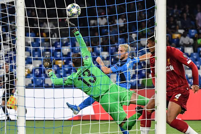 Adrian's stunning stop denies Dries Mertens. (Credit: Getty Images)