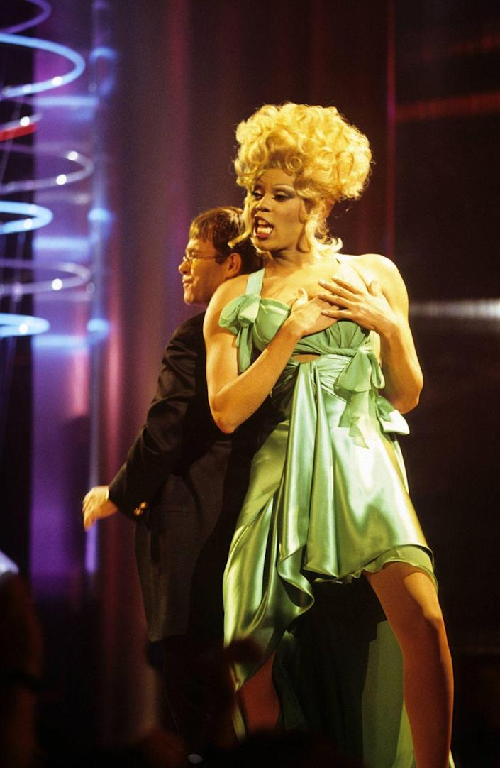 <p>You know you've hit iconic status when you are performing with Sir Elton John. Here RuPaul and Elton are rocking the Brit Awards. </p>