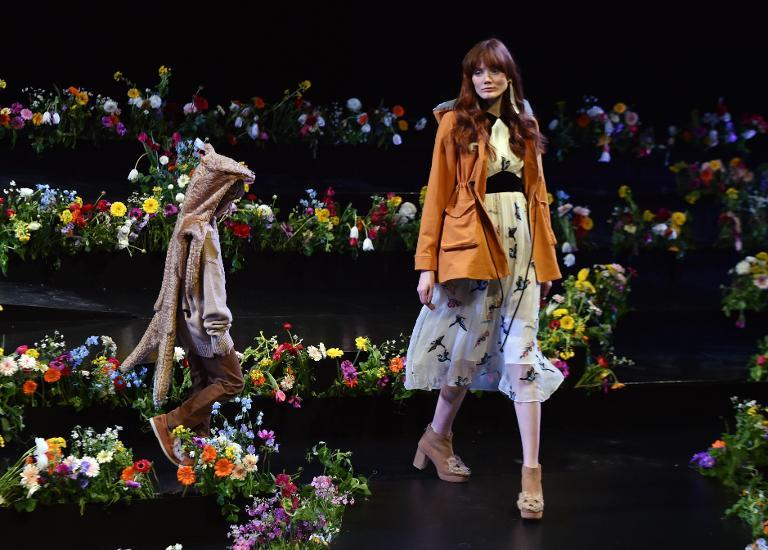Tokyo Fashion Week opens on March 16, 2015 with the catwalk transformed into a foral labyrinth by Thai designer Pim Sukhahuta