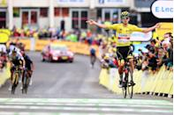 <p><strong>Who's Winning the Tour de France? </strong></p><p>In a repeat of Wednesday's stage result, Tadej Pogačar (UAE Team Emirates) won Thursday's Stage 18 to remain the leader of the 2021 Tour de France. The Slovenian went on the attack to defend his already-insurmountable lead, launching his first acceleration 3km from the top of the day's final climb, and then attacking again inside the final kilometer to win his second stage of the Tour.</p><p>Denmark's Jonas Vingegaard (Jumbo-Visma) and Ecuador's Richard Carapaz (INEOS-Grenadiers) again finished second and third on the day, but were gapped by Pogačar in the run-in to the finish in Luz Ardiden and lost two seconds on the Tour's General Classification. They now sit 5:45 and 5:51 behind the yellow jersey.</p><p>As long as he stays upright between now and Sunday, Pogačar will win the 2021 Tour de France.</p><p><strong>Who's Really Winning the Tour de France?</strong></p><p>The last two days illustrated the cruelty of the Tour de France, as Colombia's Rigoberto Uran (EF Education-Nippo)—who entered Wednesday's stage in second-place overall but couldn't hang with the leaders on the final climb of Stage 17—continued to implode. Dropped by the group of GC contenders about 3km from the summit of the Tourmalet, Uran lost 9 minutes by the stage finish. In two days, the Colombian has gone from second to tenth overall.</p><p>So with three days left to race, it's safe to say that Pogačar will take home the yellow jersey as the winner of the Tour's General Classification as well as the white jersey as the Tour's Best Young Rider. Now, thanks to winning his second summit finish in a row, the Slovenian will also win the polka-dot jersey as the Tour's King of the Mountains. That means for two years running, the Slovenian will leave the Tour with three jerseys—an impressive achievement.</p><p>Early in the stage, Great Britain's Mark Cavendish (Deceuninck-Quick Step) led the peloton through the Intermediate Sprint in Pouzac, e