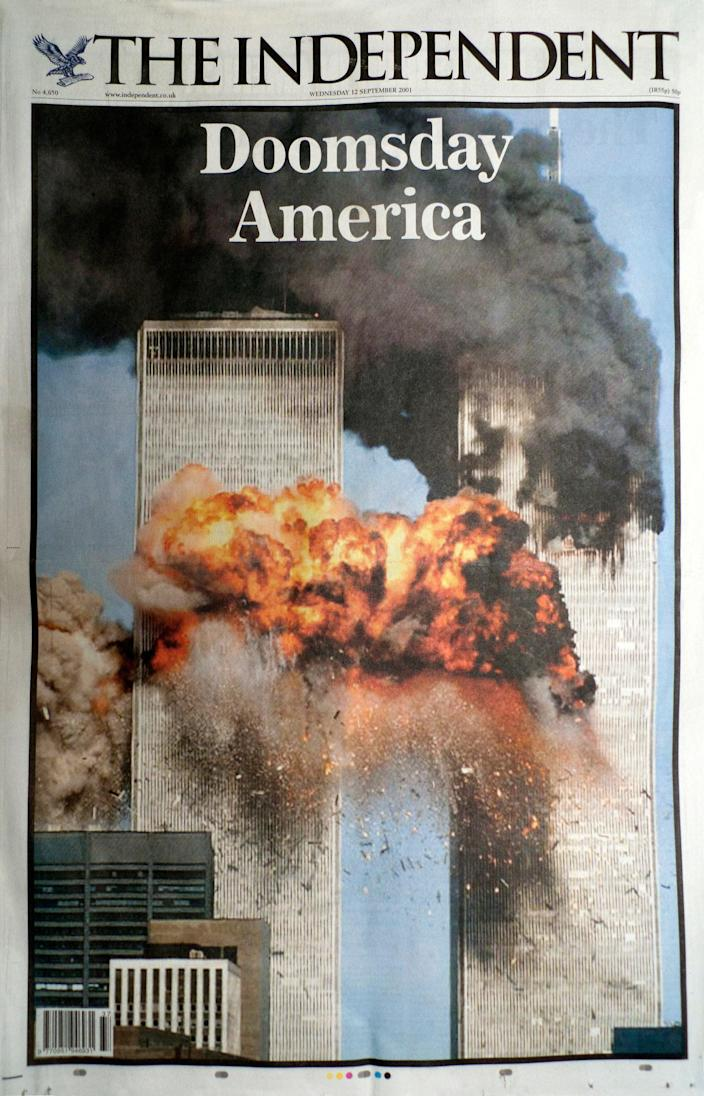 The Independent's front page on 12 September, 2001 (The Independent)