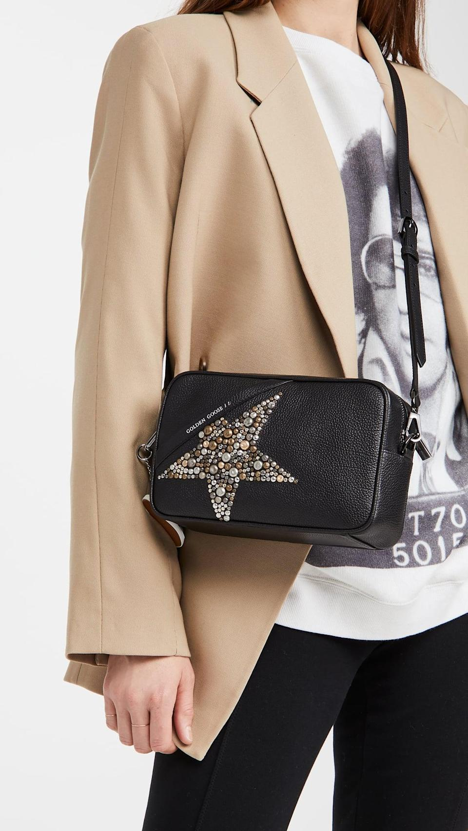 <p>This <span>Golden Goose Star Bag</span> ($585) is so versatile, and a little bit edgy. We're obsessed.</p>