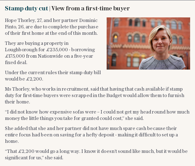 Stamp duty cut | View from a first-time buyer