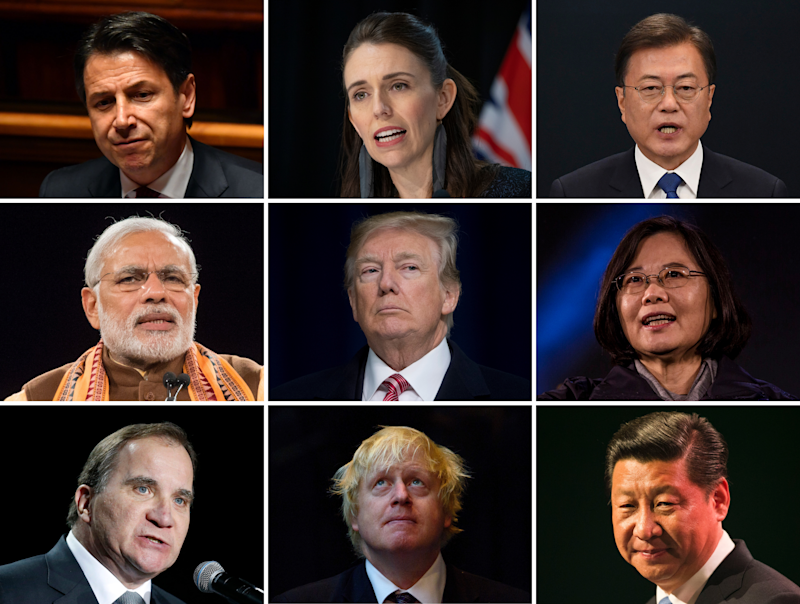 Global leaders differed in their response to the virus (Getty)