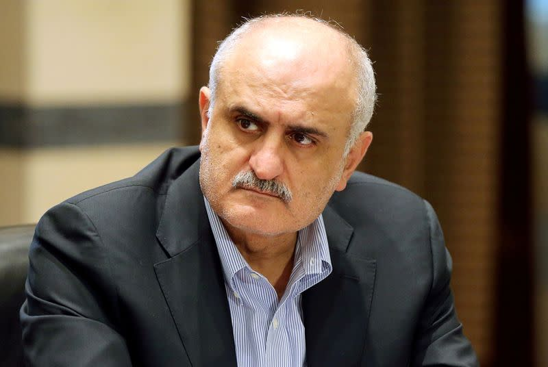 FILE PHOTO: Lebanese Finance Minister Ali Hassan Khalil attends a cabinet meeting at the government palace in Beirut