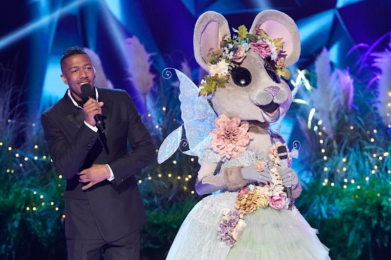 """""""Masked Singer"""" host Nick Cannon with the Mouse"""
