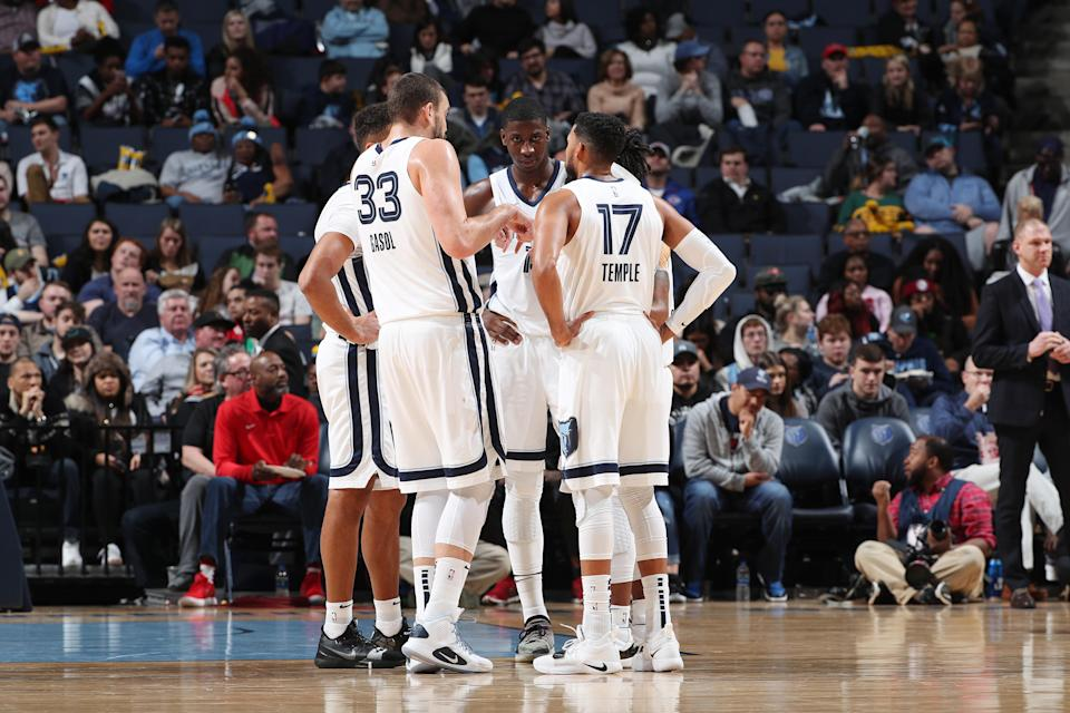 The Memphis Grizzlies held a lengthy, emotional team meeting on Wednesday after a loss to Detroit that reportedly turned physical. (Joe Murphy/Getty Images)
