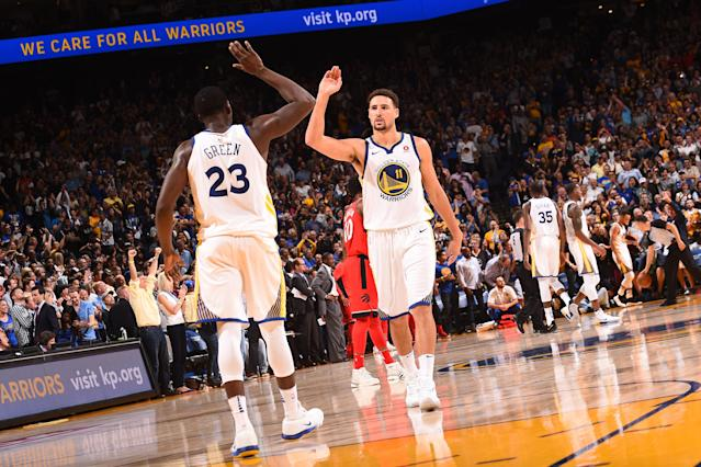Klay Thompson will play in his fourth NBA All-Star Game on Sunday in Los Angeles. (Photo by Noah Graham/NBAE via Getty Images)