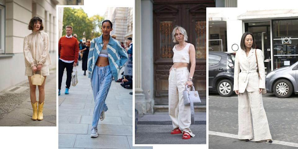 """<p class=""""body-dropcap"""">While some may count a range of billowing cotton dresses as their go-to look for the summer months, a certain kind of woman can't get by without a pair (or five) of very smart linen trousers. Tailored but relaxed, not too perfect but not too wrinkled, a great pair of pants in the natural fabrication says a lot about the lady who wears them. Add a simple tank, button-down, bathing suit, or summer blazer and you're instantly the intellectual beach babe, the bookish surf girl, the classiest gal at the pool bar. Or at least it will appear that way. Shop our favorites ahead. </p>"""