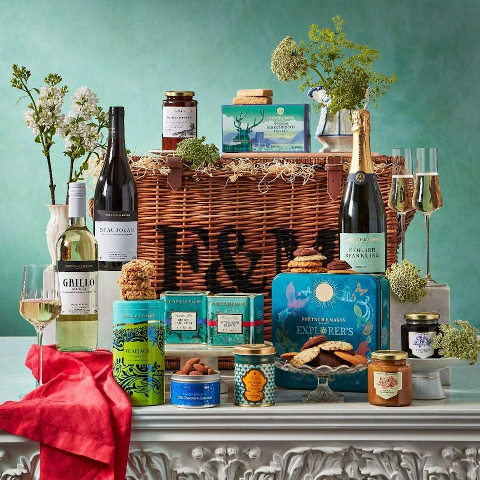 """<p><a class=""""link rapid-noclick-resp"""" href=""""https://go.redirectingat.com?id=127X1599956&url=https%3A%2F%2Fwww.fortnumandmason.com%2Fthe-fortnums-hamper&sref=https%3A%2F%2Fwww.harpersbazaar.com%2Fuk%2Fbazaar-brides%2Fnews%2Fg36853%2Fwedding-gift-ideas%2F"""" rel=""""nofollow noopener"""" target=""""_blank"""" data-ylk=""""slk:MORE"""">MORE</a></p><p>One of the most thoughtful gifts you could give is to fill the fridge with delicious treats as your loved ones return home from their honeymoon. Delicious jars, biscuits and tasty treats are sure to make the post-wedding blues a little more bearable. Fortnum & Mason has long been a go-to for perfectly curated hampers; go the extra mile and get one with a bottle of bubbles in to toast the newlyweds. </p><p>Hamper, £185, <a href=""""https://go.redirectingat.com?id=127X1599956&url=https%3A%2F%2Fwww.fortnumandmason.com%2Fthe-fortnums-hamper&sref=https%3A%2F%2Fwww.harpersbazaar.com%2Fuk%2Fbazaar-brides%2Fnews%2Fg36853%2Fwedding-gift-ideas%2F"""" rel=""""nofollow noopener"""" target=""""_blank"""" data-ylk=""""slk:Fortnum & Mason"""" class=""""link rapid-noclick-resp"""">Fortnum & Mason</a></p>"""