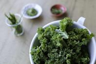 "<p>According to a report by <a href=""https://www.npr.org/sections/thesalt/2016/10/03/495975189/snap-crackle-kale-the-science-of-why-veggies-spark-in-the-microwave?referrer=yahoo&category=beauty_food&include_utm=1&utm_medium=referral&utm_source=yahoo&utm_campaign=feed"" rel=""nofollow noopener"" target=""_blank"" data-ylk=""slk:NPR"" class=""link rapid-noclick-resp"">NPR</a>, different leafy greens like kale and spinach can actually give off sparks when cooked in the microwave, yielding a similar reaction to what you'd expect from heating up something metallic.</p>"