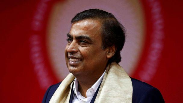 PHOTO: In this Sept. 23, 2017 file photo Mukesh Ambani, Chairman and Managing Director of Reliance Industries, attends a convocation at the Pandit Deendayal Petroleum University in Gandhinagar, India. (Amit Dave/Reuters, FILE)