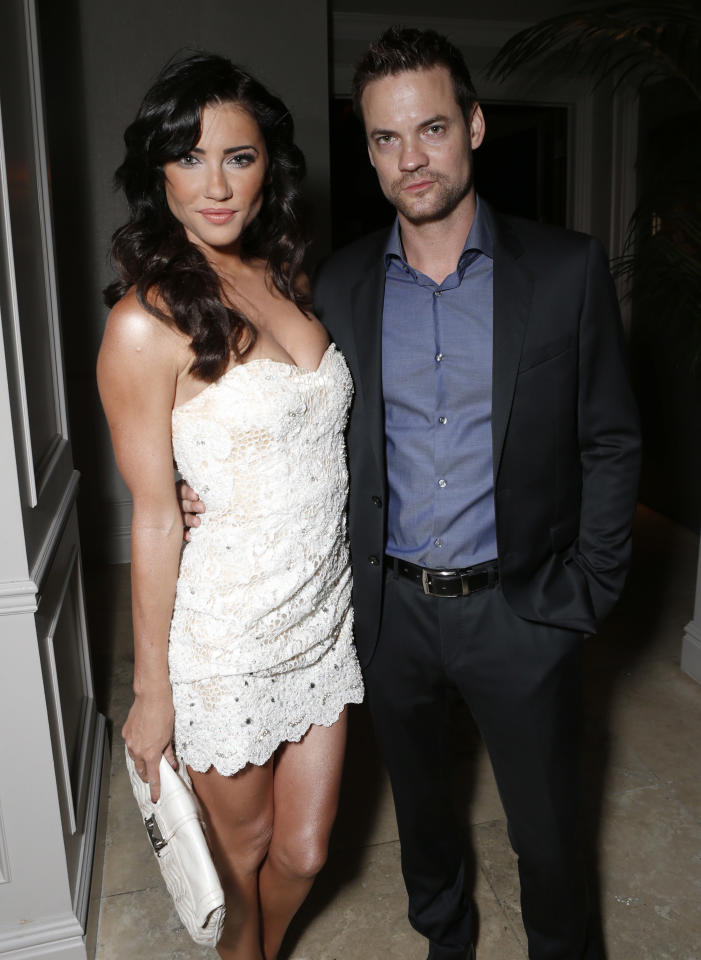 IMAGE DISTRIBUTED FOR INSTYLE - Jacqueline MacInnes Wood and Shane West attend the 13th Annual InStyle and the Hollywood Foreign Press Association's Toronto International Film Festival Party on Tuesday Sept. 11, 2012. (Photo by Todd Williamson/Invision for InStyle/AP Images)