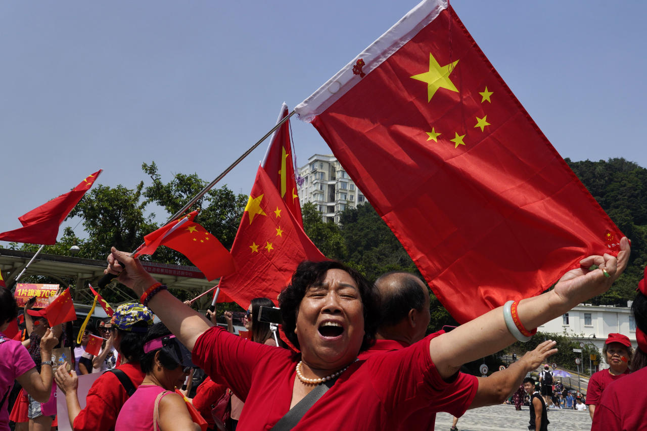 Photo of Professional-China supporters in Hong Kong rally forward of anniversary