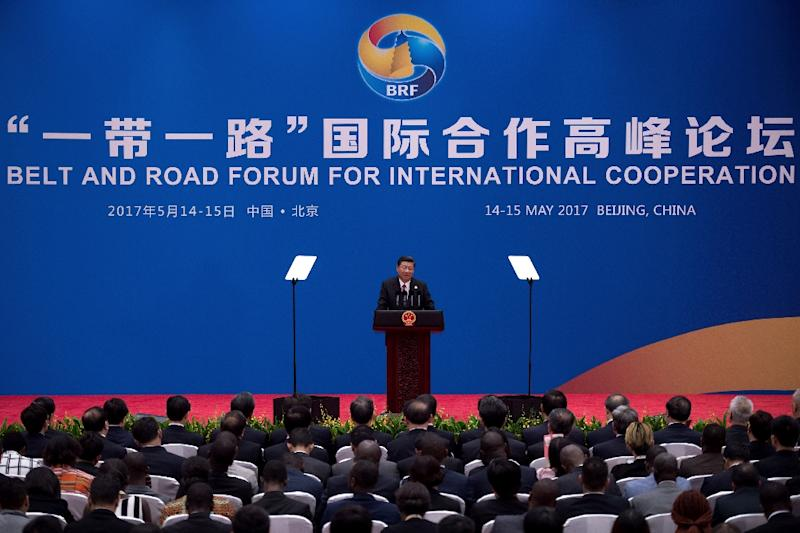 MNC Lido City is the first project to link the US president's business interests to China's signature 'Belt and Road' infrastructure initiative (AFP Photo/NICOLAS ASFOURI)