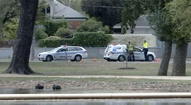 Police are still hunting for the driver of the Lancer and a possible passenger. Source: 7 News