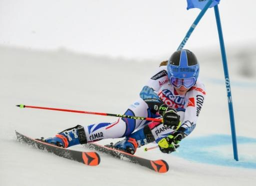 France's Clara Direz claimed a first World Cup win in the parallel giant slalom in Sestriere