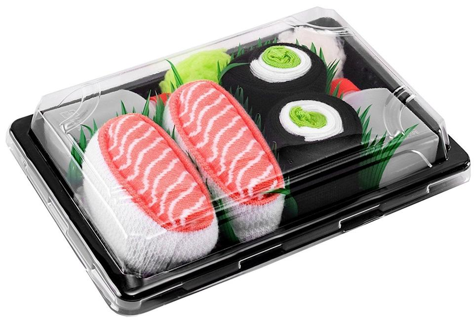 <p>This <span>Sushi Socks Box</span> ($20) will become any sushi lover's new favorite gift.</p>