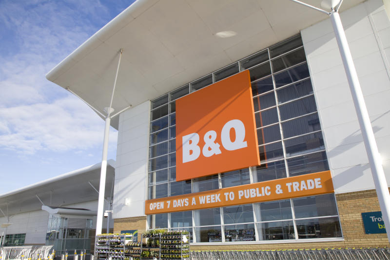 Bournemouth, England - October 15th 2012: B & Q DIY Superstore on a bright sunny autumn morning at Castlepoint shopping centre, Bournemouth.