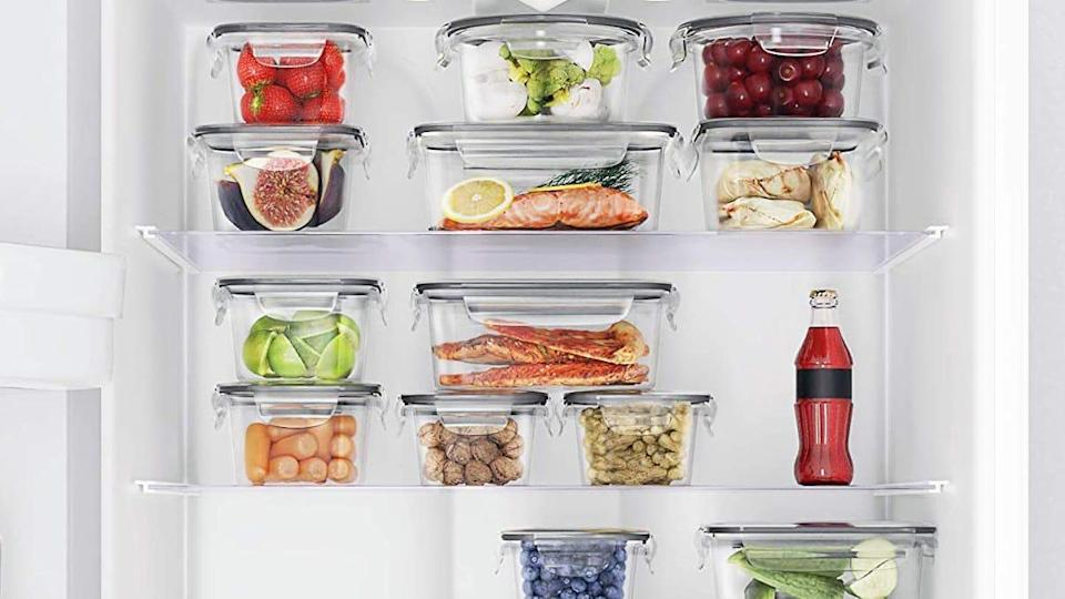 Customers praised this collection of Chef's Path food storage containers for their durable build and locking lids.