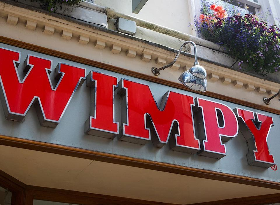 wimpy restaurant sign