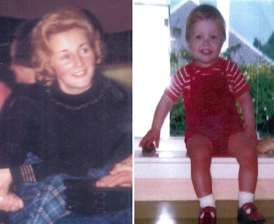 Renee MacRae, 36, and three-year-old Andrew Macrae, who disappeared after leaving their home near Inverness on November 12 1976 (Police Scotland/PA) (PA Media)
